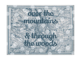 Over the Mountains & Through the Woods - 1890  United States  Colorado  North America  Colorado Map