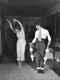 Actress Rita Hayworth  Taking Bullfighting Lessons from Fernando Lopez