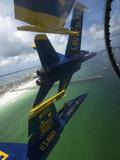 The Blue Angels Perform the Diamond 360 Maneuver Over Florida