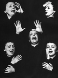 French Nightclub Singer Edith Piaf Singing During Her Performance at the Versailles Nightclub