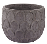 Carved Lotus Petal Pot - Wide *