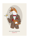 Fox Man in Pin Suit