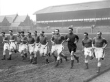 Everton players training at Goodison Park  1955