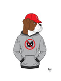 Boxer Dog in City Style