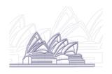 Sydney Tableau sur toile par Cristian Mielu