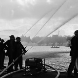 Auxiliary Fire Service exercise in Hyde Park  1957