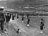 Prince of Wales Inspects Seaforth Highlanders During a Trooping of the Colour  1929