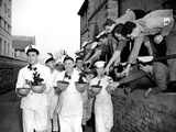Navy Cooks with Christmas Puddings 23rd November 1956