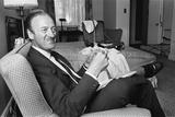 David Niven at Connaught Hotel  1965