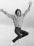 Mick Jagger on Daily Mirror Office Roof  1987