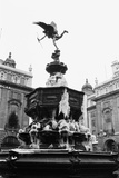 Icy statue of Eros in Piccadilly  1970