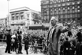 Bill Shankly Liverpool Manager on Liverpool Team Homecoming 1971