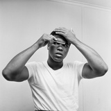 Cassius Clay Combing His Hair