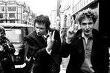Sex Pistols singer Johnny Rotten leaving Malborough Street Court 1977