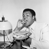 Muhammad Ali in Newcastle Eating a Stottie Cake 1977
