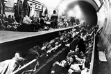 Aldwych Underground Station Being Used as an Air Raid Shelter in Ww2  1941