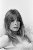 Jean Shrimpton Pictured at Her Home 1967