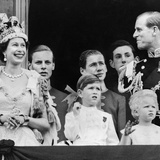 Royal Family on Balcony after the Coronation 1953