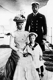 Edward Vii with George V and Queen Mary 1899