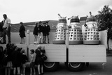 Lorry load of Daleks are prepared to be transported to the Cannes Film Festival  1965