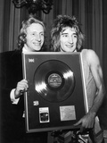 Denis Law and Rod Stewart  1973