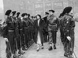 Princess Elizabeth (Queen) Conducts Inspection of the Guard 1949