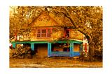 Porch in Blues Reproduction d'art par Ynon Mabat