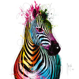 Zebra Pop Reproduction d'art par Patrice Murciano