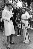 The Princess Royal Meets Drum Majorette Sylvia Moran  of the Washington Grey's Jazz Band