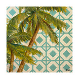 Beach Palm Turquoise Pattern I