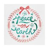 White Christmas Wreath III