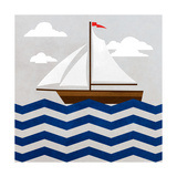 Chevron Sailing II Reproduction d'art par SD Graphics Studio