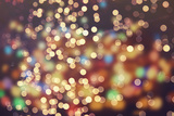 Festive Background with Natural Bokeh and Bright Golden Lights Vintage Magic Background with Color