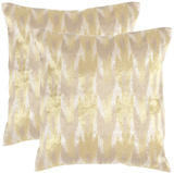 Boho Chic Pillow Pair - Gold 20""