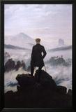 Le Voyageur contemplant une mer de nuages Poster en laminé encadré par Caspar David Friedrich