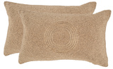 Nile Embellished Pillow Pair - Gold *