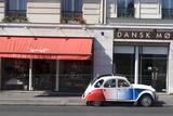 Street Scene with Deux Chevaux Car  Paris  France