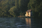 House on the Rhone River  Surronded by Trees  Geneva