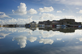 Guernsey Yacht Club and Castle Cornet in the Still Reflections of a Model Boat Pond  St Peter Port