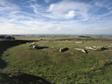 Arbor Low a Neolithic Circle of Stone Slabs Surrounded by a Ditch  Derbyshire  Uk