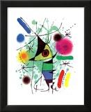 Le poisson chantant Reproduction laminée et encadrée par Joan Miró