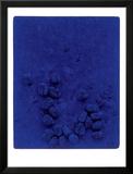 Blaues Schwammrelief (Relief Éponge Bleu: RE19), 1958 Reproduction encadrée par Yves Klein
