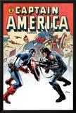 Captain America No14 Cover: Captain America and Bucky