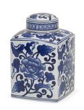Indigo Floral Lidded Jar - Small
