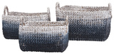 Cascade Woven Water Hyacinth Basket - Set of 3