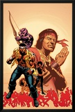 House Of M: Avengers No2 Cover: Cage  Luke  Hawkeye and Shang-Chi Swinging