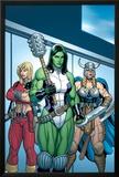 Hulk No7 Group: She-Hulk  Valkyrie and Thundra