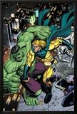 Hulk No8 Cover: Hulk  Sentry and Ms Marvel