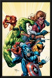 Marvel Adventures Avengers No8 Cover: Captain America