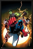 The Young Avengers No1 Cover: Patriot  Hulkling  Wiccan  Iron Lad  Asgardian and Young Avengers